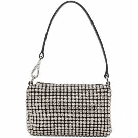 Alexander Wang Black and White Mini Rhinestone Wangloc Bag von Alexander Wang