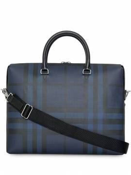 Burberry Aktentasche mit London-Check - Blau von Burberry