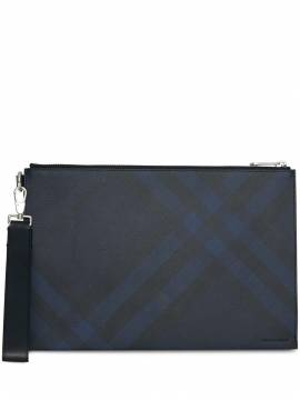Burberry Clutch mit London-Check - Blau von Burberry
