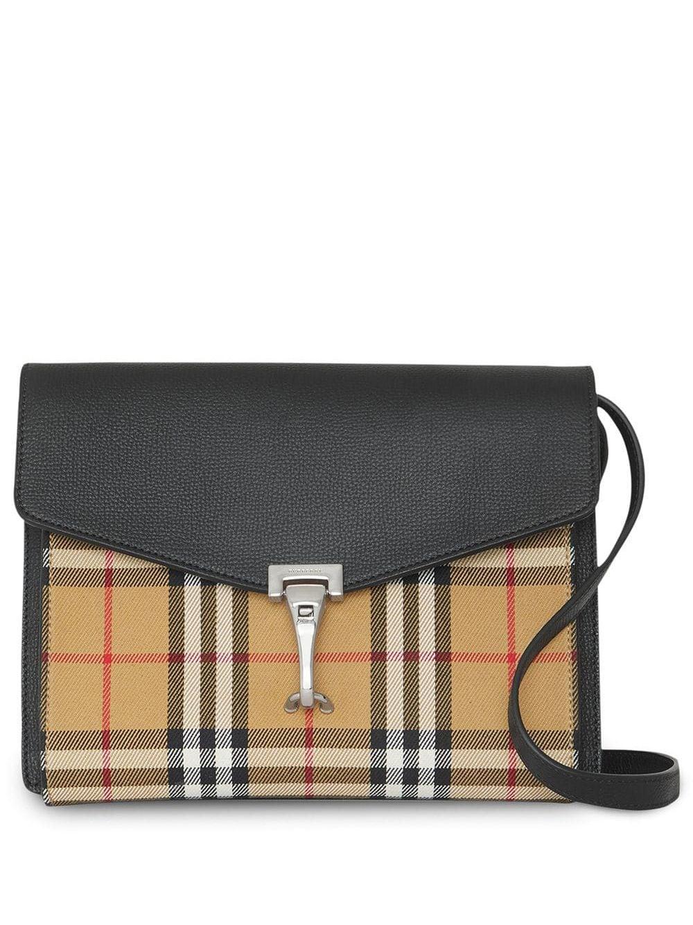 Kleine Handtasche Karo Muster Bunt Schultertasche Schwarz Grau Creme Braun