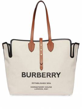 Burberry 'The Large' Canvas-Shopper - Weiß von Burberry
