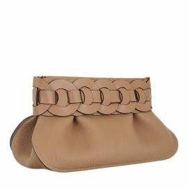 Chloé Clutches - Darryl Clutch Leather - in grau - für Damen von Chloé