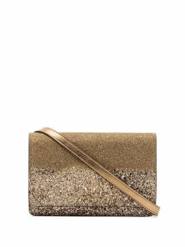 Jimmy Choo Clutch im Glitter-Look - Gold von Jimmy Choo